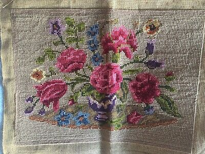 Vintage Tapestry seat/cushion/chair/picture  Roses. Lovely