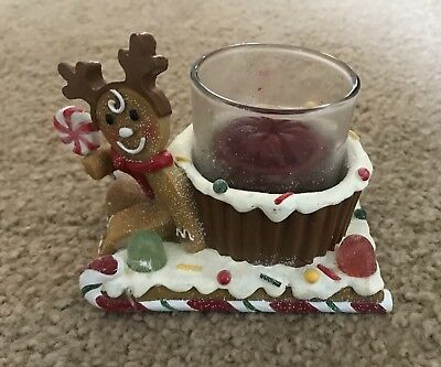 Yankee Candle Gingerbread House  Sled Tea Light Votive Holder Collectable
