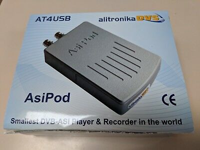 Alitronika AT4USB ASIPOD MPEG-2 Transport Stream Analyzer / Recorder / Player
