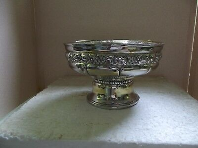 "**VINTAGE** SILVER PLATED** FOOTED FRUIT BOWL** from NORWAY** 7 1/2"" w x 5"" h**"