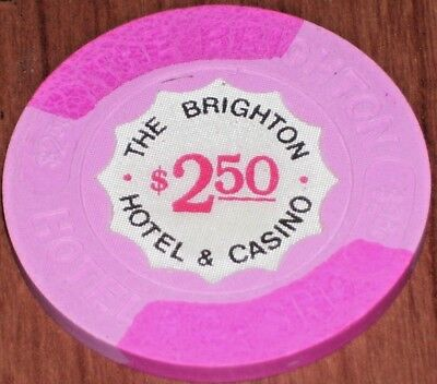 $2.50 1St Edt R6 Gaming Chip From The Brighton Casino Atlantic City Nj
