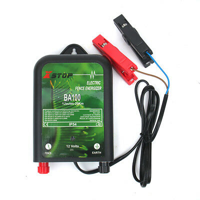 REFURBISHED BA100 12v BATTERY 20Km Range ELECTRIC FENCE ENERGISER 1J CE RoHS