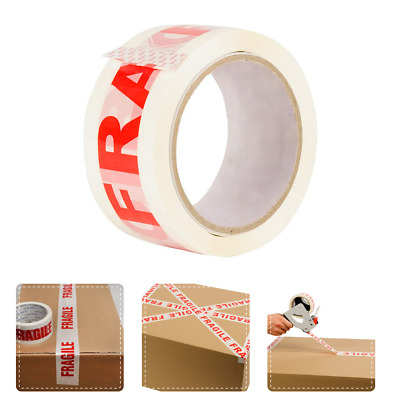 48mm X 66m FRAGILE Box Carton Sealing Packing Tape Roll Extra Strong Parcel Tape