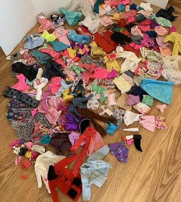 Huge Lot of Barbie Misc. Doll Clothing Dresses Pants Tops Swimsuits Accessories
