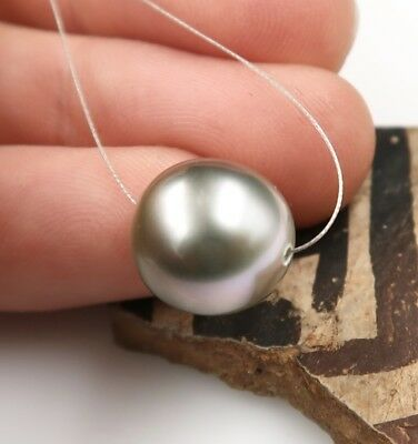 AAA TAHITIAN SILVER  IRIDESCENT CULTURED 11x11.7mm PEARL GORGEOUS VERY FINE