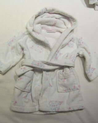 12 -18 months girls little white company dressing gown