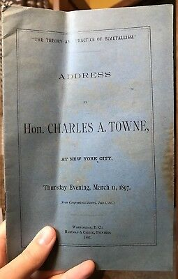 1897 Charles A. Towne Address Theory Practice of Bimetallism New York City NY
