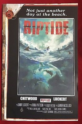 RIPTIDE #2 second printing MOVIE POSTER VARIANT RED 5 COMICS NM UNREAD