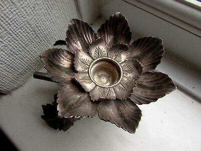 1800's(possible older) silver candle holder-part of an larger object