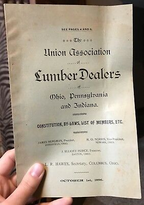 1896 Union Association of Lumber Dealers Ohio Pennsylvania Indiana Directory