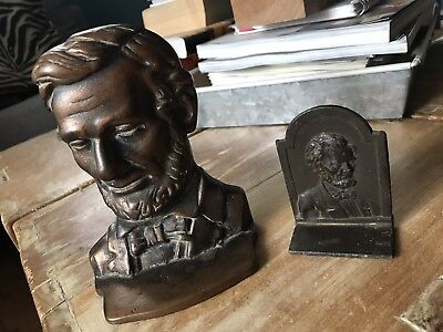 2 Abraham Lincoln Americana Busts