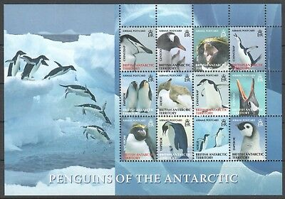 L573 British Antarctic Territory Penguins 484-95 Michel 50 € 1Sh Mnh