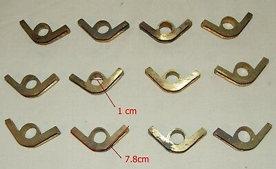 12 Brass Stair Rod Clips Vintage