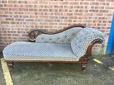 Late Victorian Mahogany frame chaise