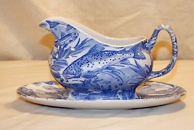 Dovedale Burgess & Leigh Gravy Sauce Boat Jug with saucer
