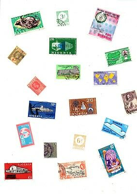 A Big Lot Of Stamps Off Paper From Nigeria ( 2000 )