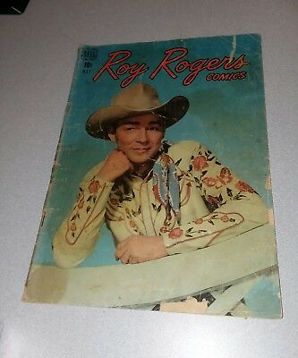 Roy Rogers Comics #17 dell comics 1949 golden age western movie photo cover lot