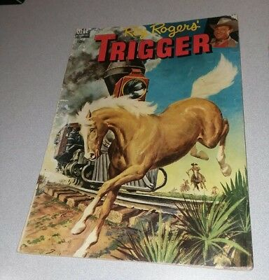 Roy Rogers' Trigger #11 dell comics 1954 golden age western horse movie cover