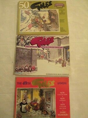 3 Giles Annual 49th, 50th and 51st series 1995/7