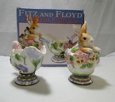 Fitz and Floyd - Halcyon Collection - Sugar & Creamer - With Original Box