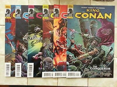 King Conan : The Conqueror #'s 1 - 6 / #1 signed by Timothy Truman