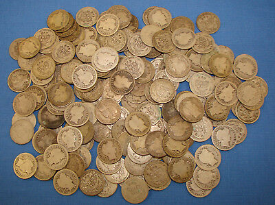 *nice Big Assorted Lot Of (184) Barber Dimes - Some Decent Dates & Coins Here*