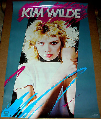 KIM WILDE Debut Kids In America Promo Poster Mint- 1981 ORIGINAL!