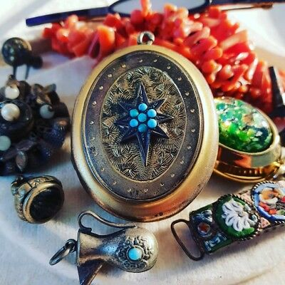 Collection of Antique and Vintage Jewellery Incl Coral, Turquoise, micro-mosaic.