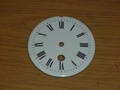 "Porcelain dial 3 3/4"" across from French mantel clock c1900"