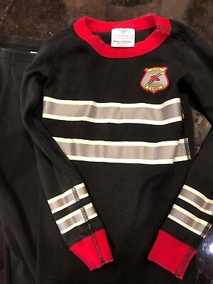 hanna andersson 110 5T Long Johns Pajamas Fire Chief