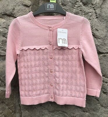 BNWT 12-18 Months Mothercare Baby Girls Pink Cardigan. Cost £14 New.