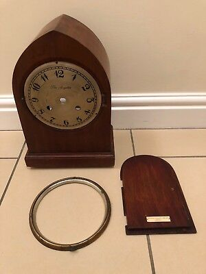 Vintage  Wooden Mantle Clock Case. The Angelus Clock Company London.