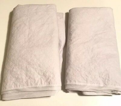 Carters Quilted Fitted Waterproof Mattress Pad Crib Size White Lot Of 2
