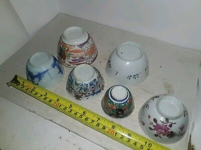 Superb Vintage 18/19Thc Chinese Japanese Tea Bowls A/f