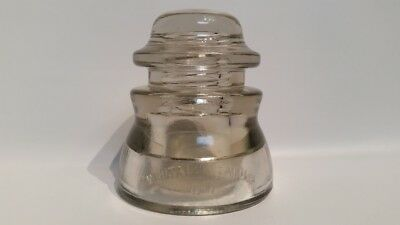 Vintage Whitall Tatum Co No. 1 53-45 Glass Insulator