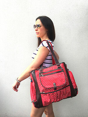 Large Stylish Fashion Carry Diaper Nappy Bag (RED) NEW POPULAR