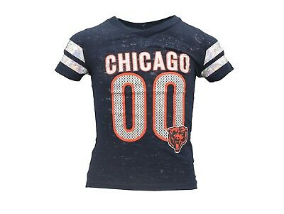 Chicago Bears Official NFL Apparel Youth Kids Girls Size Sheer T-Shirt New Tags