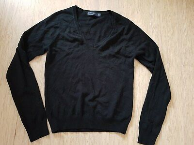 Womens Zara Black V Neck Jumper Size Small