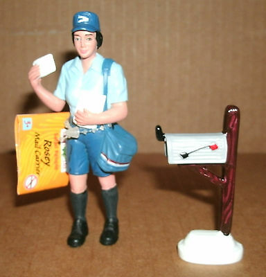 1/18 Scale Mail Carrier Rosey With Mailbox Diorama Model Letter Post Safari LTD