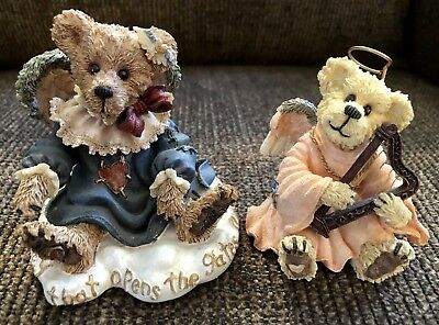Lot Of 2 Boyds Bears And Friends Figurines ~ Angels 1993 & 2001