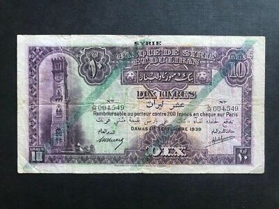 Syria class 10 Pounds 1939 F