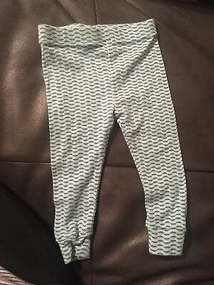 Tea Collection  Cotton Blue Leggings Size 6-12 Month Used Condition