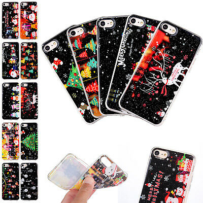 For iPhone Xs Max/XR 7/8 6 Christmas Pattern Shockproof Soft TPU Back Case Cover