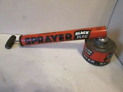 Vintage Black Flag All Purpose Bug Pump Sprayer 1 Pint Boyle-Midway Inc. Tin Can
