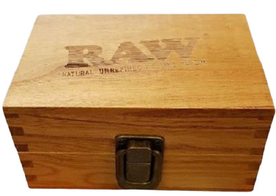 Raw Wooden Box Small Tobacco Cigarette Stash Tin Box