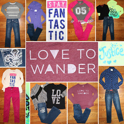 Girls Size 8/10 Fall/Winter Clothing Lot, Jeans, Tops, Sweater, FREE SHIP!