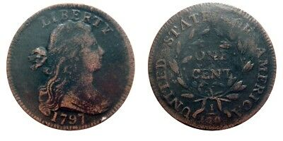 Large cent/penny 1797 very nice details