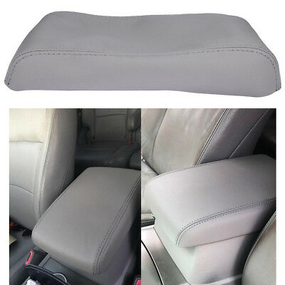 Center Console Leather Lid Armrest Cover fits Toyota Highlander 2008-13 Gray Hot
