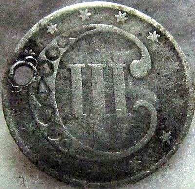 1852 US 3-CENT SILVER TRIME ~ Weird, Off-beat Little Silver Coin From Yesteryear