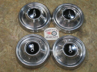 1968-69 Plymouth Road Runner, Gtx, Cuda ~Poverty~ Dog Dish Hubcaps, Set Of 4
